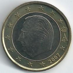 Monēta > 1eiro, 2007 - Beļģija  - obverse