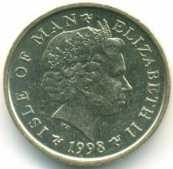 Moneda > 1libra, 1998-1999 - Isla de Man  - obverse
