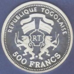 Moneda > 500francos, 2000 - Togo  (Albert Einstein) - reverse