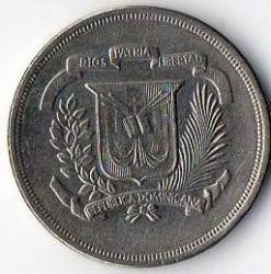 מטבע > 5סנטאבו, 1978-1981 - הרפובליקה הדומיניקנית  - obverse