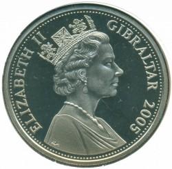 Moneta > 1corona, 2005 - Gibilterra  (200° anniversario della battaglia di Trafalgar - Consiglio di guerra) - obverse