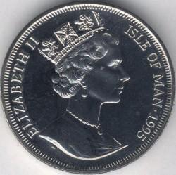 Moneta > 1corona, 1995 - Isola di Man  (Aircraft of WWII - Supermarine Spitfire) - obverse