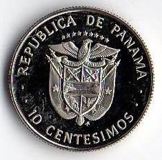 Монета > 10сентесимо, 1975-1982 - Панама  - obverse