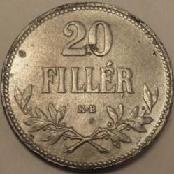 Moneda > 20fillér, 1918 - Hungría  - reverse