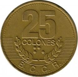 Монета > 25колонів, 1995 - Коста-Ріка  - reverse