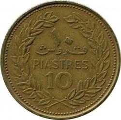 Moneta > 10piastrów, 1968-1975 - Liban  - obverse