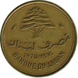 Moneta > 10piastrów, 1968-1975 - Liban  - reverse