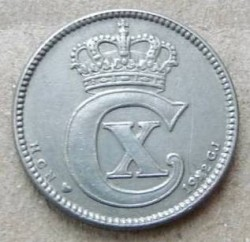 Coin > 25ore, 1920-1922 - Denmark  - obverse