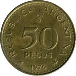 Pièce > 50pesos, 1979-1980 - Argentine  - obverse
