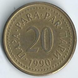 Moneta > 20para, 1990-1991 - Jugosławia  - obverse