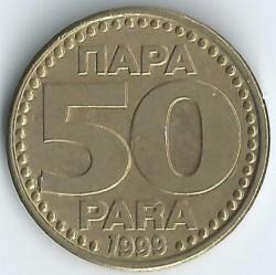 Moneda > 50para, 1996-1999 - Iugoslàvia  - obverse
