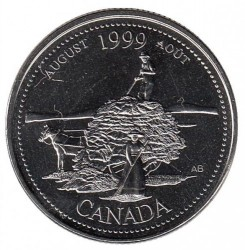 Coin > 25cents, 1999 - Canada  (August 1999, The Pioneer Spirit) - reverse