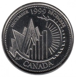 Coin > 25 cents, 1999 - Canada  (December 1999, This Is Canada) - reverse