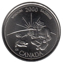 Coin > 25cents, 2000 - Canada  (Wisdom) - reverse