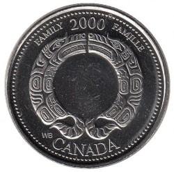 العملة > 25سنت, 2000 - كندا  (Family) - reverse