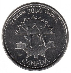 Coin > 25 cents, 2000 - Canada  (Freedom) - reverse