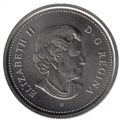 Coin > 25 cents (quarter), 2005 - Canada  (Year of the Veteran in Canada) - obverse