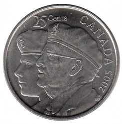 Coin > 25cents(quarter), 2005 - Canada  (Year of the Veteran in Canada) - reverse