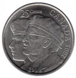 Moneda > 25centavos, 2005 - Canadá  (Año del Veterano en Canadà) - reverse