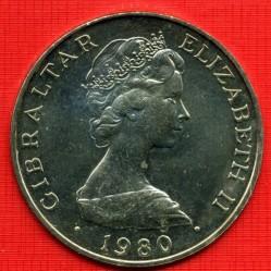 Moneta > 1corona, 1980 - Gibilterra  (80° Anniversario - Nascita della Regina madre) - obverse