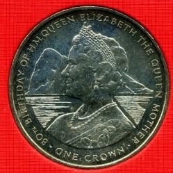 Moneta > 1corona, 1980 - Gibilterra  (80° Anniversario - Nascita della Regina madre) - reverse