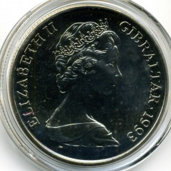 Moneta > 1corona, 1993 - Gibilterra  (Casato di Hannover - Regina Vittoria) - reverse