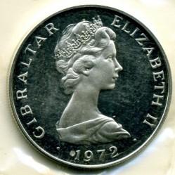 Moneta > 25nuovipence, 1972 - Gibilterra  (25° Anniversario - Matrimonio della Regina Elisabetta II e del Principe Filippo) - obverse