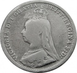 Coin > 3pence, 1887-1893 - United Kingdom  - obverse