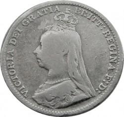 Moeda > 3pence, 1887-1893 - Reino Unido  - obverse