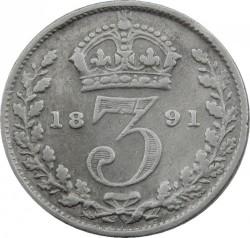 Moeda > 3pence, 1887-1893 - Reino Unido  - reverse