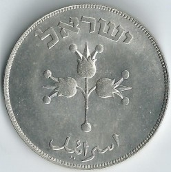 Minca > 500prutah, 1949 - Izrael  - reverse