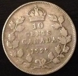 Coin > 10 cents, 1920-1936 - Canada  - obverse