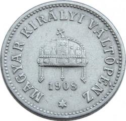 Монета > 10филлеров, 1892-1909 - Венгрия  - obverse