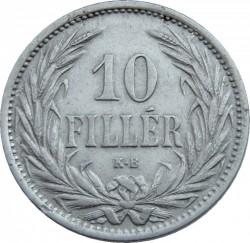 Монета > 10филлеров, 1892-1909 - Венгрия  - reverse