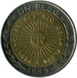 Moneda > 1peso, 1994-2016 - Argentina  - obverse