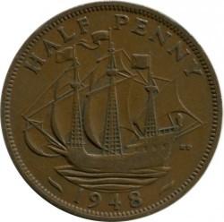 錢幣 > ½便士, 1948 - 英國  - obverse