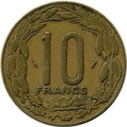 Moneda > 10francos, 1974-2003 - África Central (BEAC)  - reverse