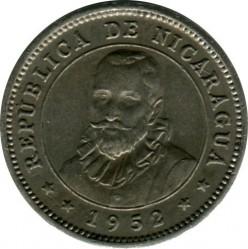 Moeda > 5centavos, 1946-1956 - Nicarágua  - obverse