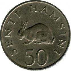 Moneta > 50senti, 1966-1984 - Tanzania  - reverse