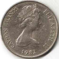 Coin > 25 cents, 1972-1986 - Cayman Islands  - obverse