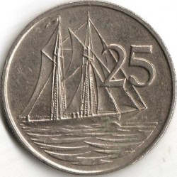 Coin > 25 cents, 1972-1986 - Cayman Islands  - reverse