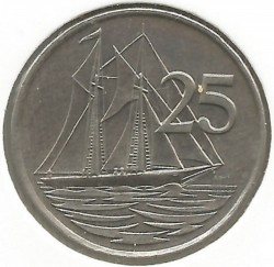 Coin > 25 cents, 1987-1990 - Cayman Islands  - obverse