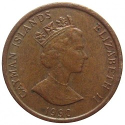Coin > 1 cent, 1990 - Cayman Islands  - obverse