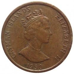 Monedă > 1cent, 1987-1990 - Insulele Cayman  - obverse