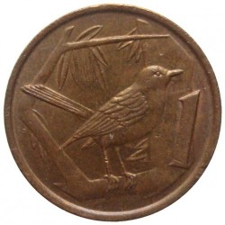 Monedă > 1cent, 1987-1990 - Insulele Cayman  - reverse