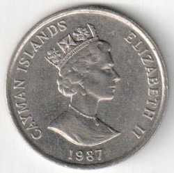 Coin > 25cents, 1987-1990 - Cayman Islands  - obverse