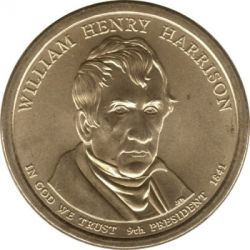 Moneda > 1 dollar, 2009 - Estats Units  (President dels EUA - William Henry Harrison (1841)) - obverse