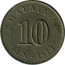Coin > 10sen, 1967-1988 - Malaysia  - obverse