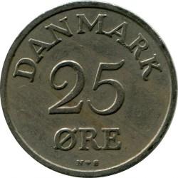 Moneda > 25öre, 1948-1960 - Dinamarca  - obverse