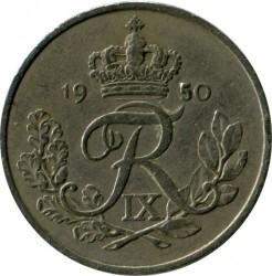 Moneta > 25erės, 1948-1960 - Danija  - reverse